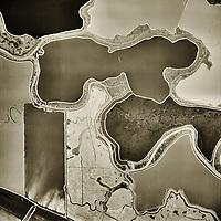 aerial photograph wetlands salt ponds Napa County, California ,1958