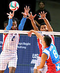 Action from the Puerto Rico and Dominican Republic match in the final day of the Pan America Cup at the Reno Events Center in Reno, Nev., on Monday, Aug. 17, 2015. <br /> Photo by Cathleen Allison