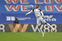 Ademola Lookman of Fulham in action during the Premier League behind closed doors match between Crystal Palace and Fulham at Selhurst Park, London, England on 28 February 2021. Photo by Vince Mignott / PRiME Media Images.