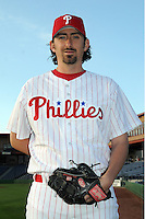 Feb 20, 2009; Clearwater, FL, USA; The Philadelphia Phillies pitcher Gary Majewski (44) during photoday at Bright House Field. Mandatory Credit: Tomasso De Rosa/ Four Seam Images