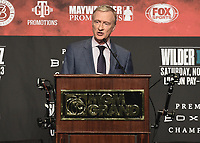 LAS VEGAS - NOVEMBER 20:  Jimmy Lennon Jr. attends the final press conference for their November 23 fight on the Fox Sports PBC Pay-Per-View fight night on September 20, 2019 in. Las Vegas, Nevada. (Photo by Scott Kirkland/Fox Sports/PictureGroup)