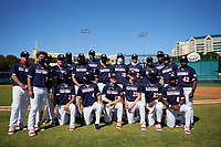 American League team photo after the Baseball Factory All-Star Classic at Dr. Pepper Ballpark on October 4, 2020 in Frisco, Texas.  (Ken Murphy/Four Seam Images)