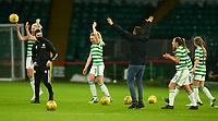 21st April 2021; Celtic Park, Glasgow, Scotland; Scottish Womens Premier League, Celtic versus Rangers; Celtic Women Manager Fran Alonso celebrates with his players on the pitch after the win