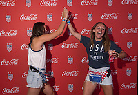 Lyon, FRA - July 1, 2019:  The USWNT held Fan HQ before the semifinals of the FIFA Women's World Cup.