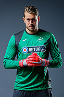Pictured: Kristoffer Nordfeldt. Thursday 29 August 2018<br />Re: Swansea City FC player and staff profile photo-shoot at Fairwood Training Ground, Wales, UK