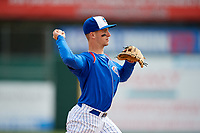 South Bend Cubs third baseman Zack Short (3) throws to first base during a game against the Kane County Cougars on May 3, 2017 at Four Winds Field in South Bend, Indiana.  South Bend defeated Kane County 6-2.  (Mike Janes/Four Seam Images)