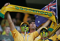 Australian fans cheer on their team before the game. Brazil defeated Australia 2-0 in their FIFA World Cup Group F match at the FIFA World Cup Stadium, Munich, Germany, June 18, 2006.
