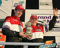 Butch Leitzinger and Elliott Fprbes-Robinson, 2nd palce overall at the Grand Prix od Miami at Homestead-Miami Speedway on Saturday, March 5, 2005.(Grand American Road Racing Photo by Brian Cleary)