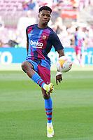 26th September 2021; Nou Camp, Barcelona, Spain: La Liga football, FC Barcelona versus Levante:  Ansu Fati warms up
