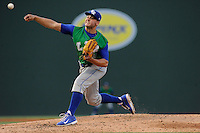 Starting pitcher Jake Junis (24) of the Lexington Legends in a game against the Greenville Drive on Wednesday, June 4, 2014, at Fluor Field at the West End in Greenville, South Carolina. Lexington won, 9-3 and Junis got the win. (Tom Priddy/Four Seam Images)
