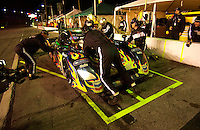 Rolex 24 at Daytona, Daytona International Speedway 5/6 Feb, 2005.The #79 Ford/Crawford is re-fueled and repaired late Saturday night..Copyright©F.Peirce Williams 2005