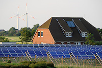 "Europa Deutschland DEU , Nordseeinsel Pellworm , AN Bonus Windraeder und Solarkraftwerk der eon AG | .Europe Germany GER solar and wind energy on north sea island Pellworm .| [ copyright (c) Joerg Boethling / agenda , Veroeffentlichung nur gegen Honorar und Belegexemplar an / publication only with royalties and copy to:  agenda PG   Rothestr. 66   Germany D-22765 Hamburg   ph. ++49 40 391 907 14   e-mail: boethling@agenda-fototext.de   www.agenda-fototext.de   Bank: Hamburger Sparkasse  BLZ 200 505 50  Kto. 1281 120 178   IBAN: DE96 2005 0550 1281 1201 78   BIC: ""HASPDEHH"" ,  WEITERE MOTIVE ZU DIESEM THEMA SIND VORHANDEN!! MORE PICTURES ON THIS SUBJECT AVAILABLE!! ] [#0,26,121#]"
