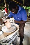 Potter, Tiwi people, Bathurst Island, Australia