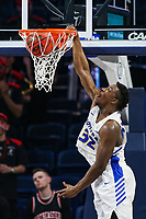 Washington, DC - March 10, 2020: Hofstra Pride forward Isaac Kante (32) dunks the ball during the CAA championship game between Hofstra and Northeastern at  Entertainment and Sports Arena in Washington, DC.   (Photo by Elliott Brown/Media Images International)
