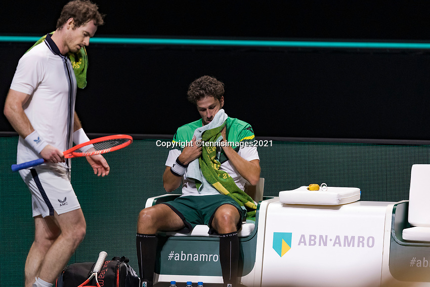 Rotterdam, The Netherlands, 28 Februari 2021, ABNAMRO World Tennis Tournament, Ahoy, First round match: Andy Murray (GBR) vs. Robin Haase (GBR).<br /> Photo: www.tennisimages.com