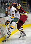 9 January 2009: University of Vermont Catamounts' forward Jonathan Higgins, a Junior from Stratham, NH, in action during the first game of a weekend series against the Boston College Eagles at Gutterson Fieldhouse in Burlington, Vermont. The Catamounts scored with one second remaining in regulation time to earn a 3-3 tie with the visiting Eagles. Mandatory Photo Credit: Ed Wolfstein Photo
