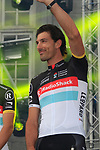 Radioshack-Nissan team rider Fabian Cancellara (SUI) on stage at the Team Presentation Ceremony before the 2012 Tour de France in front of The Palais Provincial, Place Saint-Lambert, Liege, Belgium. 28th June 2012.<br /> (Photo by Eoin Clarke/NEWSFILE)