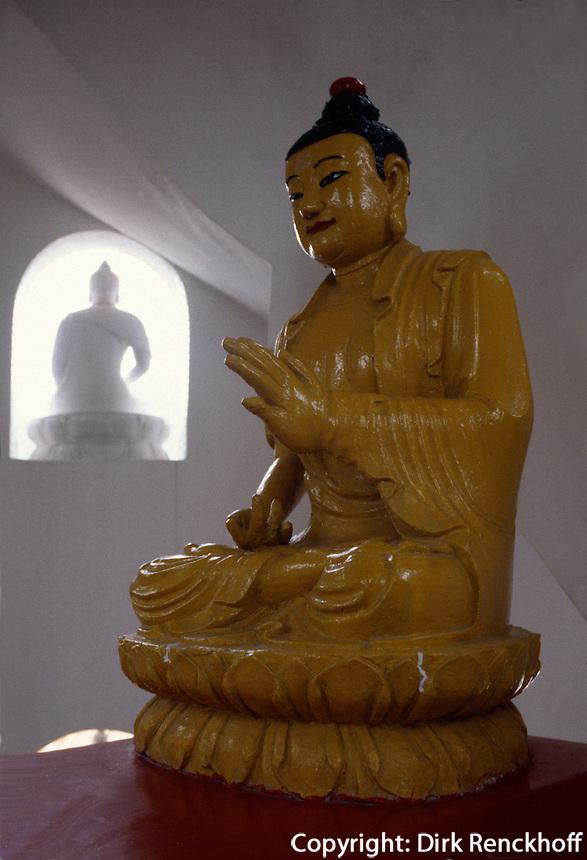 Buddha-Statue in der Pagode des 10.000 Buddha-Tempel, Hongkong-Shatin, China