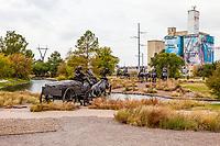 Oklahoma City, Oklahoma.  Oklahoma Land Run Monument, Sculptor Paul Moore.