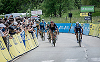 at 41 yrs old Alejandro Valverde (ESP/Movistar) outsprints Tao Geoghegan Hart (GBR/INEOS Grenadiers) to the line to ad another Dauphiné stage to his palmares, 13 years after his previous ones...<br /> <br /> 73rd Critérium du Dauphiné 2021 (2.UWT)<br /> Stage 6 from Loriol-sur-Drome to Le Sappey-en-Chartreuse (167km)<br /> <br /> ©kramon