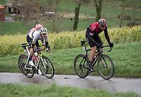 World Champion Mads Pedersen (DEN/Trek-Segafredo) up the Rekelberg<br /> <br /> 75th Omloop Het Nieuwsblad 2020 (1.UWT)<br /> Gent to Ninove (BEL): 200km<br /> <br /> ©kramon