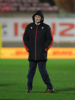Wales head coach Wayne Pivac during the pre-match warm-up <br /> <br /> Photographer Ian Cook/CameraSport<br /> <br /> 2020 Autumn Nations Cup - Wales v Georgia - Saturday 21st November 2020 - Parc y Scarlets - Llanelli - Wales<br /> <br /> World Copyright © 2020 CameraSport. All rights reserved. 43 Linden Ave. Countesthorpe. Leicester. England. LE8 5PG - Tel: +44 (0) 116 277 4147 - admin@camerasport.com - www.camerasport.com