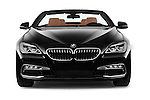 Car photography straight front view of a 2015 BMW 6 Series 640i 2 Door Convertible Front View
