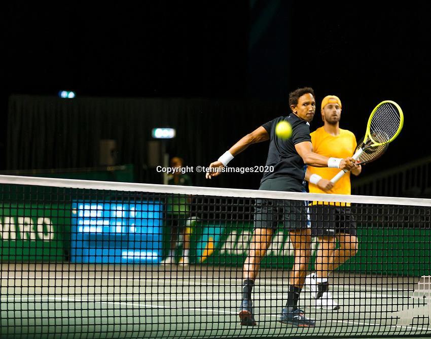 Rotterdam, The Netherlands, 9 Februari 2020, ABNAMRO World Tennis Tournament, Ahoy, Doubles: Raven Klaasen (RSA) and Oliver Marach (AUT).<br /> Photo: www.tennisimages.com
