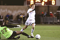 COLLEGE STATION, TX - DECEMBER 4:  Kelley O'Hara of the Stanford Cardinal during Stanford's 2-1 (OT) win over the UCLA Bruins in the NCAA Women's Soccer Championships semi-finals on December 4, 2009 in College Station, Texas.