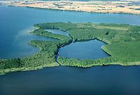 Schweriner See, Luftaufnahme, Luftbild, Mecklenburg-Vorpommern, Deutschland