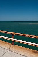 Siderailing of the Old Seven Mile Bridge, Marathon, Florida
