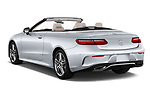Car pictures of rear three quarter view of a 2018 Mercedes Benz E Class Base 2 Door Convertible angular rear