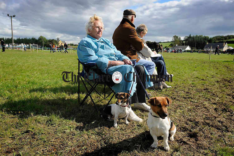 Catherine Reilly of Lisnagry with Buster and Susie at Scariff Show. Photograph by John Kelly.