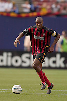 The MetroStars' Eddie Pope. D. C. United was defeated by the NY/NJ MetroStars 3 to 2 during the MetroStars home opener at Giant's Stadium, East Rutherford, NJ, on April 17, 2004.