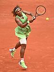 June 4, 2021:  Serena Williams (USA) defeated Danielle Collins (USA) at the Roland Garros being played at Stade Roland Garros in Paris, .  ©ISPA/chr-ja/Tennisclix/CSM