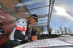Fernando Gaviria (COL) UAE Team Emirates at sign on in Fortezza Medicea before the start of Strade Bianche 2019 running 184km from Siena to Siena, held over the white gravel roads of Tuscany, Italy. 9th March 2019.<br /> Picture: LaPresse/Gian Matteo D'Alberto   Cyclefile<br /> <br /> <br /> All photos usage must carry mandatory copyright credit (© Cyclefile   LaPresse/Gian Matteo D'Alberto)