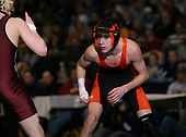 Christopher Conti (VI) and Brian Borst (III) square off in the NY State Division Two finals at the 119 weight class during the NY State Wrestling Championship finals at Blue Cross Arena on March 9, 2009 in Rochester, New York.  (Copyright Mike Janes Photography)