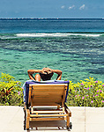 Relaxing by the sea on Tokoriki Island resort (Sheraton Resort & Spa) in the Mamanuca's, Fiji Islands.