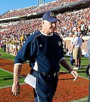 Oct. 15, 2011-Charlottesville, VA.-USA-  Georgia Tech defensive coordinator Al Groh during an ACC football game against the Virginia Cavaliers at Scott Stadium. Virginia won 24-21. (Credit Image: © Andrew Shurtleff