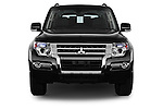 Car photography straight front view of a 2016 Mitsubishi Pajero Instyle 5 Door Suv Front View