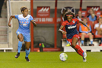 Chicago, IL - Saturday Sept. 24, 2016: Casey Short, Crystal Dunn during a regular season National Women's Soccer League (NWSL) match between the Chicago Red Stars and the Washington Spirit at Toyota Park.