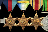 BNPS.co.uk (01202 558833)<br /> Pic: Spink/BNPS<br /> <br /> Pictured: The medals.<br /> <br /> The medals of a hero commander who did 'cloak and dagger' missions to occupied Norway and returned with Christmas trees for the Royals and Winston Churchill are being sold.<br /> <br /> Lieutenant Donald Buller evaded detection to deliver radio equipment to agents on the Nazi-patrolled Norwegian west coast in late 1943.<br /> <br /> He returned with two festive trees lashed to its deck which were gifts from the Norwegian Resistance to Churchill and the young princesses Elizabeth and Margaret.