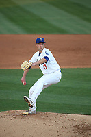 Robbie Peto (49) of the Rancho Cucamonga Quakes pitches against the Modesto Nuts at LoanMart Field on May 12, 2021 in Rancho Cucamonga, California. (Larry Goren/Four Seam Images)