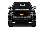 Car photography straight front view of a 2021 Chevrolet Suburban Premier 5 Door SUV Front View