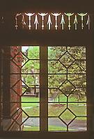 Hartford: Twain House--porch detail. Photo'91.