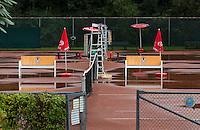 28-08-11, Tennis, Amstelveen, NVK, Nederlandse Veteranen Kampioenschappen, Regen