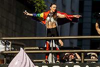 SÃO PAULO, SP, 23.06.2019: PARADA-SP - Mel C, das Spice Girls durante apresentaçao. Movimentação durante a 23ª edição da Parada LGBT que acontece neste domingo (23) na Avenida Paulista, no Centro da cidade de São Paulo. A festa contará com 19 trios elétricos com apresentações musicais, como a ex-Spice Girl Mel C, e as cantoras Iza, Karol Conká, Alinne Rosa, Luisa Sonza e Gloria Groove. (Foto: Carla Carniel/Código19)