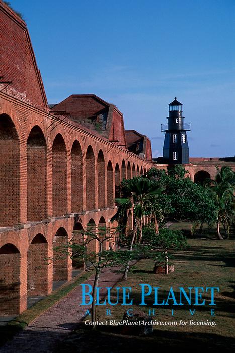Fort Jefferson, Garden Key, Dry Tortugas National Park, built in the mid-1800's, Florida, USA, Atlantic Ocean