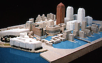 London: Canary Wharf Complex--another model. PROGRESSIVE ARCHITECTURE 1:89, p. 37.    Reference only.