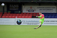Goalkeeper Scott Brown of Wycombe Wanderers during the Friendly match between Aldershot Town and Wycombe Wanderers at the EBB Stadium, Aldershot, England on 26 July 2016. Photo by Alan  Stanford.
